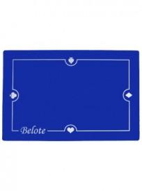 Tapis de cartes 60x40cm Belote – Bleu (réf. 2076)