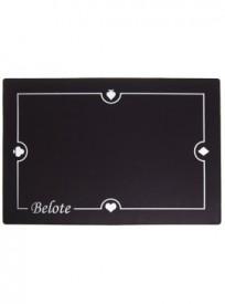 Tapis de cartes 60x40cm Belote – Noir (réf. 2076)