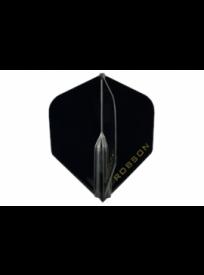 Plumes Darts Robson Plus noires (réf. 565)